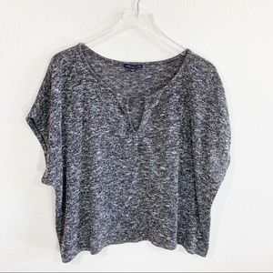 American Eagle AEO heathered grey short sleeve top